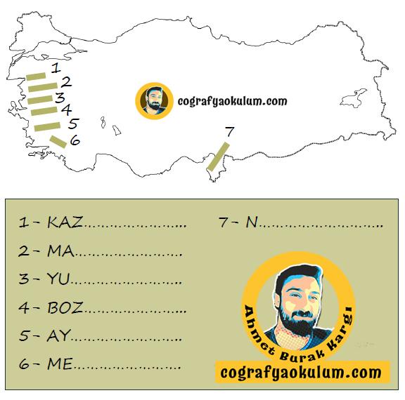 Türkiye'nin Kırık Dağları Haritası