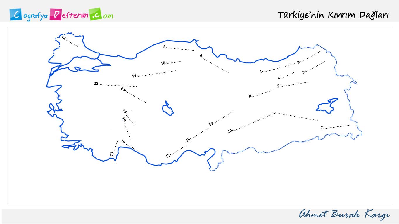 Türkiye'nin Kıvrım Dağları (Orojenez-Antiklinal)