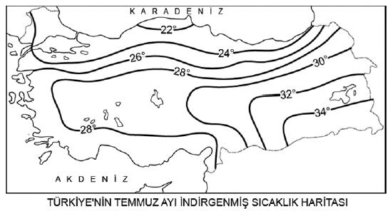 Türkiye'de Sıcaklık ve Sıcaklığın Dağılışı 2