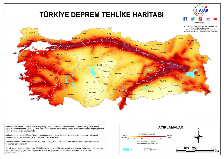 Türkiye'de Deprem (Seizma) ve Fay Hatları 2