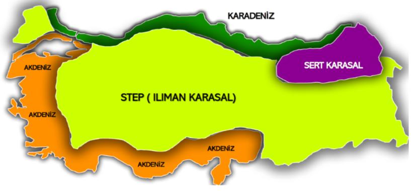 Türkiye'de Görülen İklim Tipleri 1