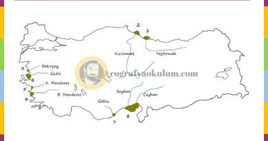 Türkiye'nin Delta Ovaları - Dilsiz Harita Alıştırmaları 1