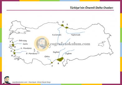Türkiye'nin Delta Ovaları – Dilsiz Harita Alıştırmaları