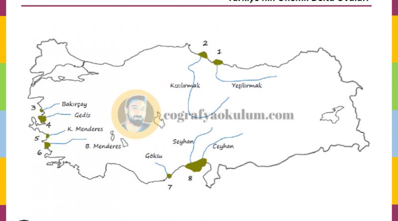 Türkiye'nin Delta Ovaları - Dilsiz Harita Alıştırmaları 2