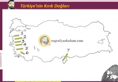 Türkiye'nin Kırık Dağları Dilsiz Harita