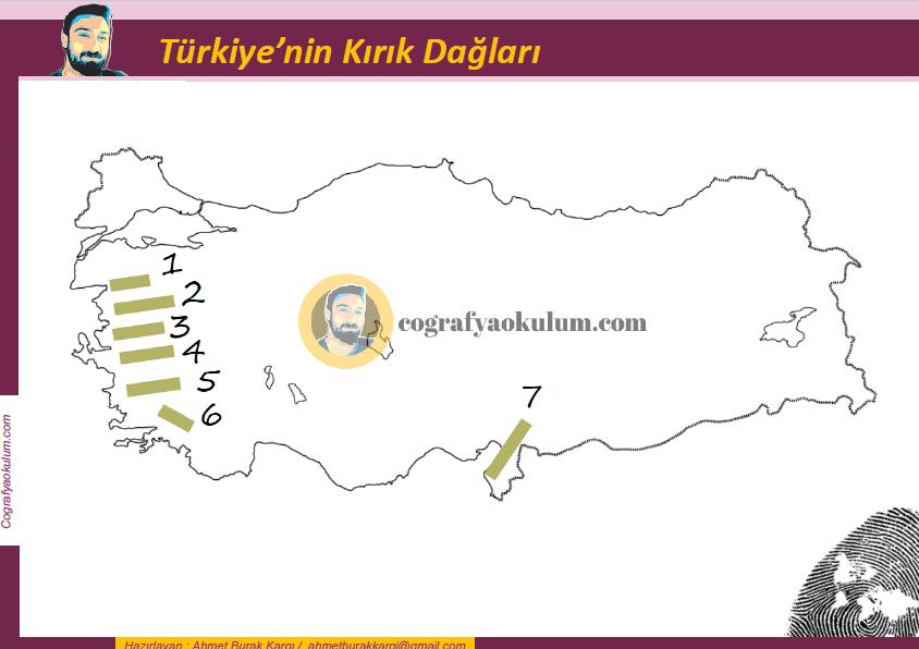 Türkiye'nin Kırık Dağları Dilsiz Harita 1