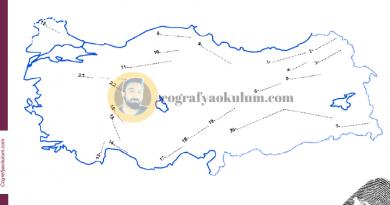 Türkiye'nin Kıvrım Dağları Dilsiz Haritası (Alıştırma) 3