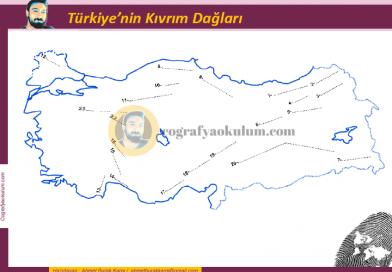 Türkiye'nin Kıvrım Dağları Dilsiz Haritası (Alıştırma)