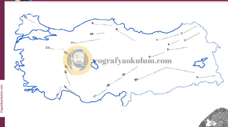 Türkiye'nin Kıvrım Dağları Dilsiz Haritası (Alıştırma) 1