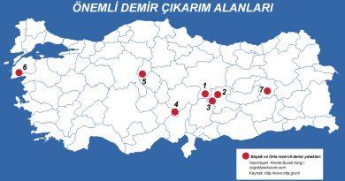 Türkiye'de Demir Çıkarılan Yerler ve Demir Çelik Fabrikaları 3