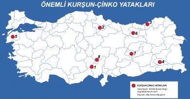 Türkiye'de Kurşun ve Çinko Çıkarılan Yerler 3