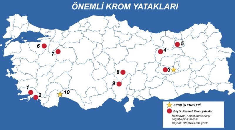 Türkiye'de Krom Nerede Çıkarılır ve Krom İşletmeleri 11