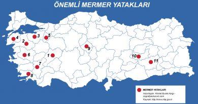 Türkiye'deki Önemli Mermer Yatakları