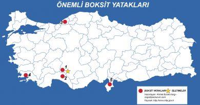 Türkiye'de Boksit (Alüminyum) Nerde Çıkarılır - Nerede İşlenir 2