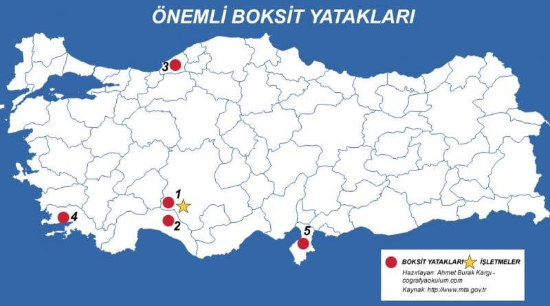 Türkiye'de Boksit (Alüminyum) Nerde Çıkarılır - Nerede İşlenir 10