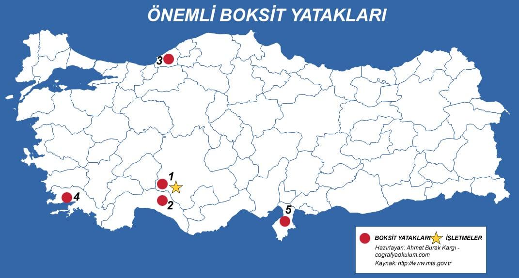 Türkiye'de Boksit (Alüminyum) Nerde Çıkarılır - Nerede İşlenir 1