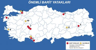 Türkiye'de Barit Çıkarılan ve İşlenen Yerler 3