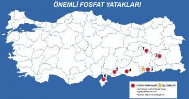 Türkiye'de Fosfat Çıkarılan ve İşlenen Yerler 3