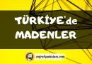 Türkiye'de Madenler (Tüm Madenler)