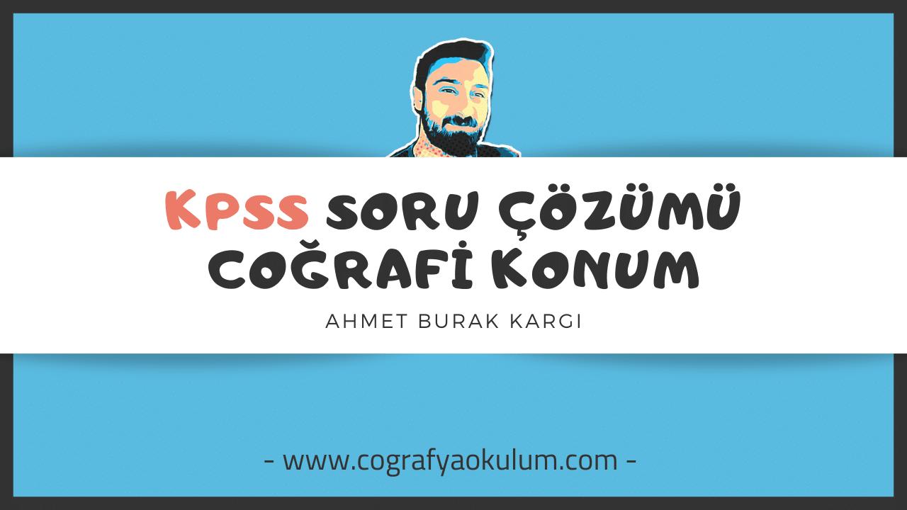 KPSS Coğrafi Konum Soru Çözümü 8